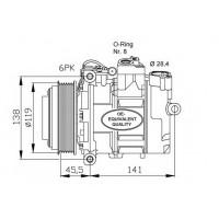 Компрессор кондиционера DCP17023 MERCEDES-BENZ  W210 E G M CLASS