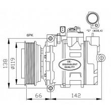 Компрессор кондиционера AUDI A4,A6,A8,SKODA SUPERB,VW PASSAT 96-05 DCP02005 (DENSO)
