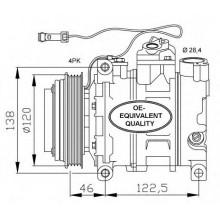 Компрессор кондиционера AUDI,A4,A6,A8 SKODA SUPERB VW PASSAT 2.5 TDI DCP02047