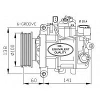 Компрессор кондиционера AUDI A4, A5, A6, A8, Q5 / SEAT EXEO  - DCP02038 (DENSO)