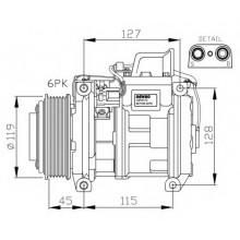 Компрессор кондиционера DCP17011 MERCEDES-BENZ SPRINTER VITO