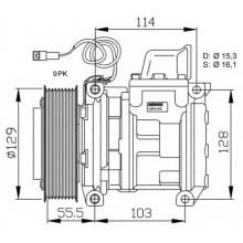Компрессор кондиционера DCP17034 MERCEDES-BENZ ACTROS MK SK