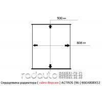 Сердцевина радиатора MERSEDES-BENZ ACTROS (96-), valeo Версия, 900X808X52