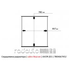 Сердцевина радиатора MERSEDES-BENZ AXOR (02-), valeo версия, 780X667X52