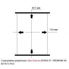 Сердцевина радиатора  valeo Версия  KERAX 97- PREMIUM 96- 825X727X52