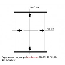 Сердцевина радиатора RENAULT MAGNUM DXI 04, behr Версия, 1020X708X52