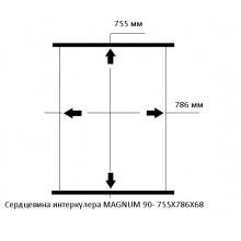 Сердцевина интеркулера MAGNUM 90- 755X786X68