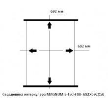 Сердцевина интеркулера MAGNUM E-TECH 00- 692X692X50