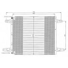 Радиатор кондиционера SERIA 3 (89-) 649X446X22