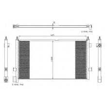 Радиатор кондиционера FM7 (98-), FM9 (01-), FM12 (98-)