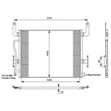 Радиатор кондиционера KERAX 97- PREMIUM 96- PREMIUM 00- 590X462X16