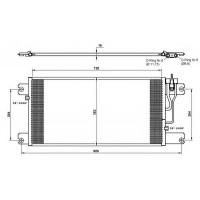Радиатор кондиционера SERIA 5 (04-) 706X373X17