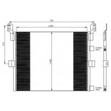 Радиатор кондиционера для RENAULT MAGNUM DXI  04-