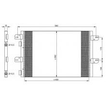 Радиатор кондиционера IVECO EUROCARGO TECTOR (00-) - 94764 (NISSENS)