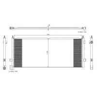 Радиатор кондиционера FH12 (93-),FH16 (93-) 845X345X18