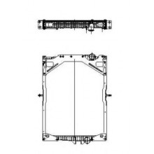 Радиатор в сборе FH (93-), FM (98-) 900X728X52