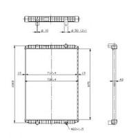 Радиатор без рамы  Версия valeo  MAGNUM E-TECH 00- 976X727X52
