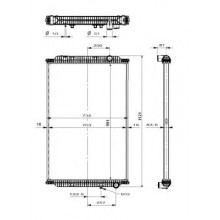 Радиатор без рамы  Версия behr  PREMIUM 05- 991X708X52