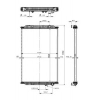Радиатор без рамы  Версия behr  MAGNUM DXI 04- 1020X708X52