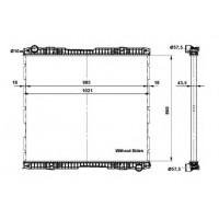 Радиатор без рамы ( версия denso ) SERIA 5 (04-) 860X979X42