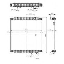 Радиатор без рамы  Версия behr  PREMIUM 05-  FE 06- 705X708X52