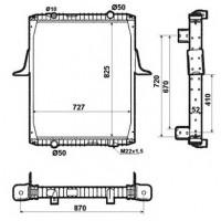 Радиатор в cборе KERAX 97- 825X727X52