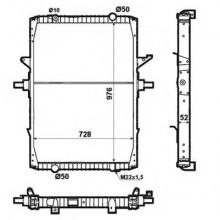 Радиатор в cборе для RENAULT MAGNUM E-TECH 00-