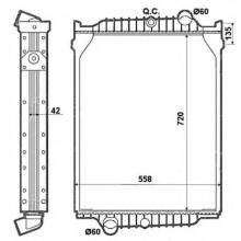 Радиатор без рамы ( версия valeo ) FL6 (98-) 709X558X42