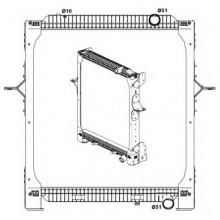 Радиатор в cборе PREMIUM 05-,VOLVO  FE 06- 705X708X52