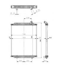 Радиатор без рамы  Версия behr  PREMIUM 00- 810X708X52