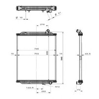 Радиатор без рамы  Версия behr  PREMIUM 05- 810X708X52