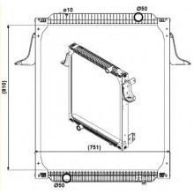 Радиатор в cборе PREMIUM 00- 810X708X52 1041021