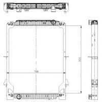 Радиатор в cборе EUROTECH (92-) 900X740