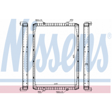 Радиатор без рамы  Версия valeo  KERAX 97- 915X727X52