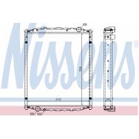 Радиатор в cборе L 2000 (93-) 705X618X58