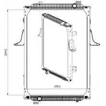 Радиатор в cборе PREMIUM 00- 968X708X52