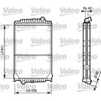 Радиатор без рамы ( версия valeo ) FL6 (98-) 935X558X42