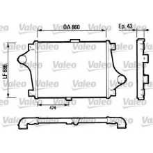 Интеркулер RENAULT CBH - 816693 (VALEO)