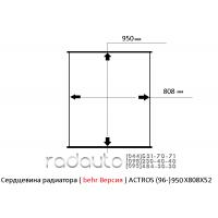 Сердцевина радиатора ( behr Версия ) ACTROS (96-) 950X808X52