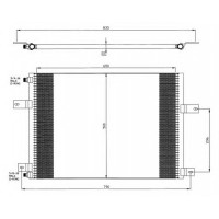 Радиатор кондиционера MAGNUM E-TECH 00- 666X498X22