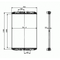 Радиатор охлаждения двигателя без рамочный для транспортных средств DAF XF95