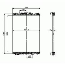 Радиатор охлаждения для DAF XF95