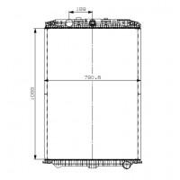 Радиатор охлаждения DAF XF105 без рамочный