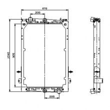 Радиатор охлаждения для DAF 85 FA