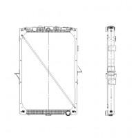 Радиатор охлаждения DAF XF105 - (Valeo)