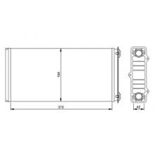 Радиатор печки (отопитель) для DAF 95XF (97-05)