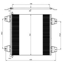 Радиатор кондиционера DAF XF105