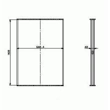 Соты радиатора охлаждения DAF 85 FA (92-98), 908X618