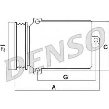 Компрессор кондиционера LEXUS IS 220d, 250 (DENSO)