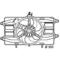 Вентилятор без диффузора  FIAT DOBLO 1.9 1.2 1.6  AC-  (POLCAR)